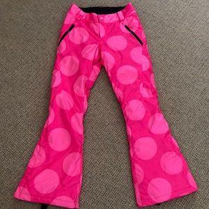 Spyder Pink Polka Dot Ski Pants